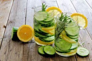 Lemon-Cucumber Infused Water